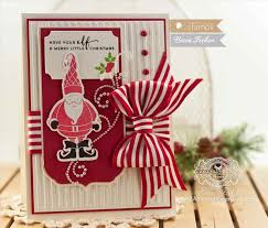 annual 1 day christmas cards card making stamping with moon