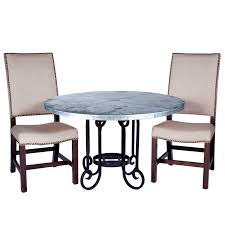 curled leg iron dining table with 54