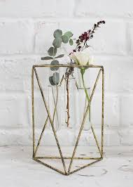 Vase Stands Metal Stand With Glass Tube Vases Geometric Home Decor Afloral Com