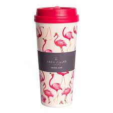 travel mug sara miller flamingo thermal travel mug temptation gifts