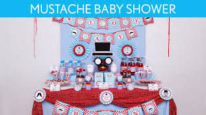 mustache baby shower party ideas mustache s3 youtube