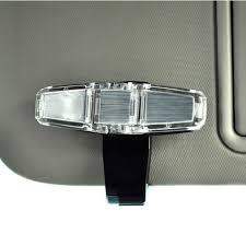 clip on visor light universal auto sunglasses clip car sun visor clip holder for dual