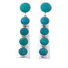 blue drop earrings king sonoran blue turquoise sterling silver drop earrings