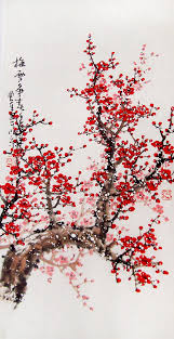original painting lovely cherry blossom tree by art68