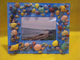 Seashell Craft Ideas For Kids - kids craft a picture frame from sea shells