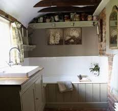 country bathroom with tongue and groove panelling country