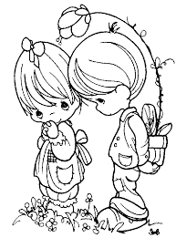 printable 18 precious moments couples coloring pages 7293