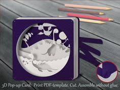 printable christmas pop up card templates tunnel card 3d pop up card papercut template christmas elf card