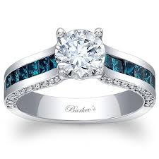 blue diamond wedding rings barkev s 14k blue diamond princess cut channel set engagement ring