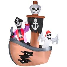 halloween blow ups clearance totally ghoul airblown halloween pirate ship u2014kmart