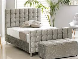 Luxury Bed Frame Kensington Luxury Bed Frame In Crushed Silver The Cosy Bedding