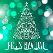 feliz navidad merry christmas spanish text card vector fantasy