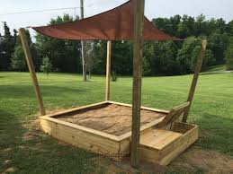 Toy Box Ideas Outdoor Sandboxes With Shade And Toybox For Kids Playground Ideas