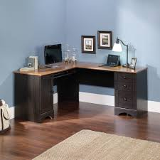 Corner Computer Tower Desk Sauder Harbor View Corner Computer Desk Antiqued Paint Finish