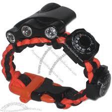 survival bracelet whistle buckle images Survival bracelet ultimate band whistle buckle compass jpg