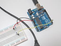 arduino 101 making a led blink with a button