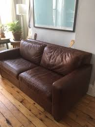 West Elm Henry Leather Sofa West Elm Henry Leather Sofa 800 Obo In Steuben County Greenwood