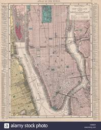 Old Map New York City by Manhattan Antique Town City Plan Panorama New York City Baedeker