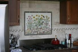 hand painted tile backsplash kitchen cabinet hardware room
