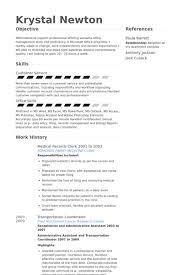 medical records clerk resume samples visualcv resume samples