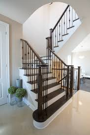 Wrought Iron Stair by Oak Staircase With Wrought Iron Pickets Oak Staircase With Wrought