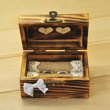 wedding rings in box personalized wedding ring box rustic ring bearer wooden ring