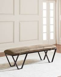 imported leather bench neiman marcus