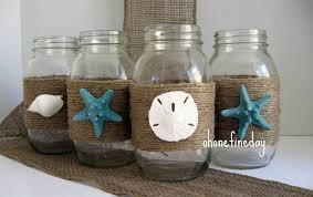 beach home decor accessories mason jars seashell covered summer wedding beach wedding beach