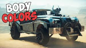 all body colors top dog locations mad max showcase youtube