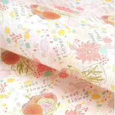 wholesale gift wrap paper 25 sheets of sweet flower gift wrapping paper roll wholesale