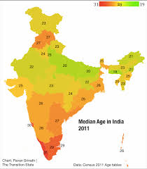Kerala India Map by Demographic Dividend The Transition State