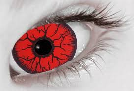 bloody red coloured lenses red contact lenses red contacts