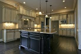 Cream Distressed Kitchen Cabinets How To Paint Kitchen Cabinets Antique Glaze Nrtradiant Com
