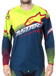 signed motocross jerseys alpinestars petrol yellow red 2017 techstar factory mx jersey