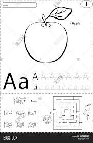 cartoon apple aircraft alphabet vector u0026 photo bigstock