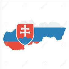 Slovak Flag Slovakia High Resolution Map With National Flag Flag Of The