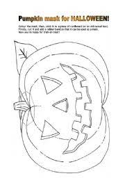 english teaching worksheets halloween masks