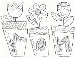 coloring pages mothers day flowers mothers day coloring pages doodle art alley