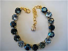 tennis blue bracelet images Swarovski crystal tiffany blue bridesmaid tennis bracelet aqua JPG