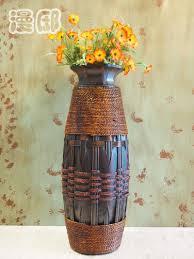 Flower Vase Decoration Home Kignart Large Floor Vase Big Wood U0026 Bamboo Large Floor Vase