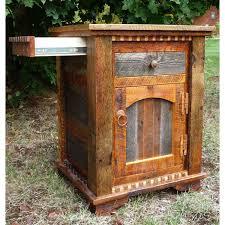 idaho homestead weathered wood nightstand