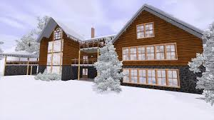 Winter House The Sims 3 Building Winter Retreat Youtube