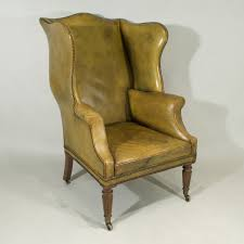 Velvet Wingback Chair Chairs George Iv Mahogany Wing Chair Upholstered In Old Green