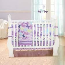 Lavender Butterfly Crib Bedding Just Born All A Flutter Baby Crib Bedding Sets Along With Just
