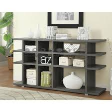 800359 contemporary weathered grey bookcase