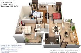 1500 sq ft home 3d house plans in 1500 sq ft chercherousse