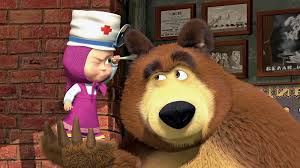 russian cartoon masha bear pulls billions rubles