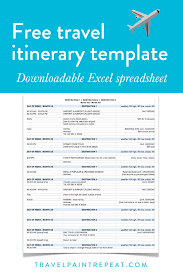 travel itinerary images The travel itinerary template i use to plan all my trips free