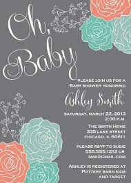 mint and coral baby shower invitation baby shower pinterest