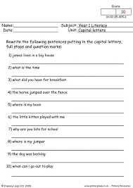 primaryleap co uk capital letters 5 worksheet